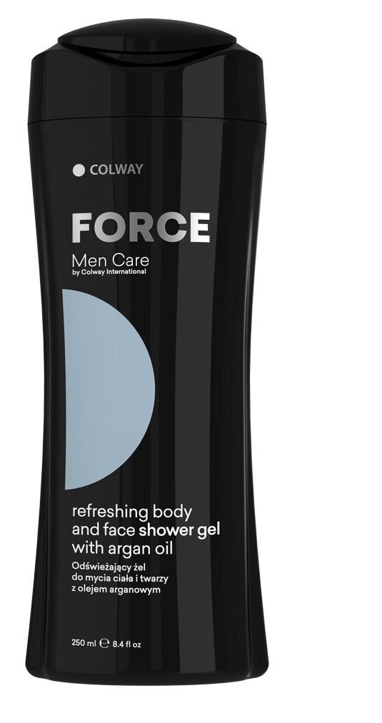 Освежаващ гел за миене на тяло и лице с арганово масло  250 мл  COLWAY INTERNATIONAL