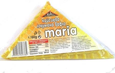 """Вафла локумена """"Мария""""  кайсия,60гр."""