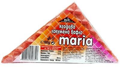 "Вафла локумена ""Мария""ягода,60 гр."