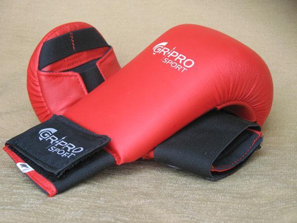 Карате ръкавици, изкуствена кожа, червени, HOS-HBG-2700 GR-PRO