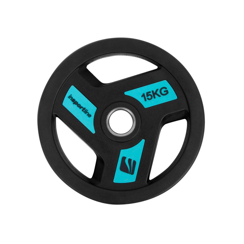 Олимпийски гумиран диск inSPORTline Herk 15 kg