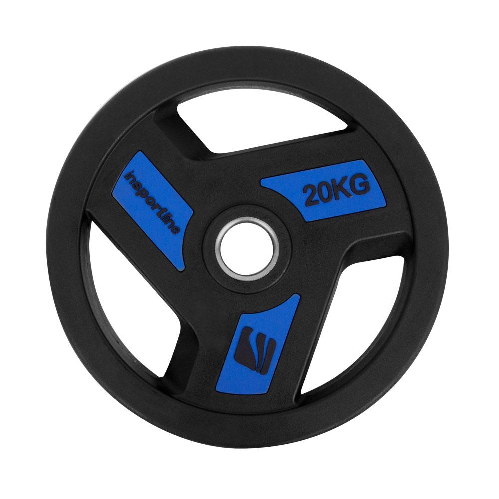 Олимпийски гумиран диск inSPORTline Herk 20 kg