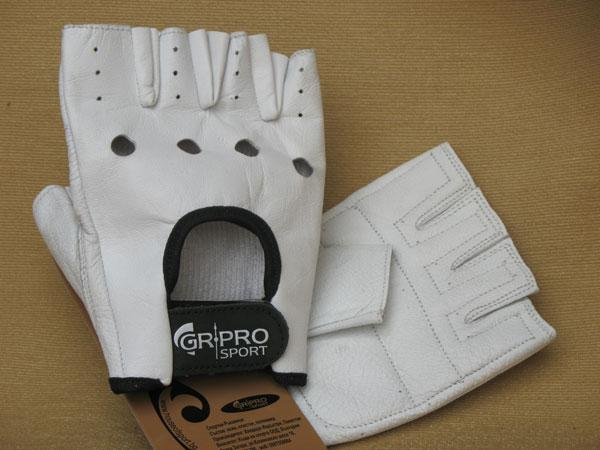 Фитнес ръкавици,бели, HOS-HFG 0171-B GR-PRO