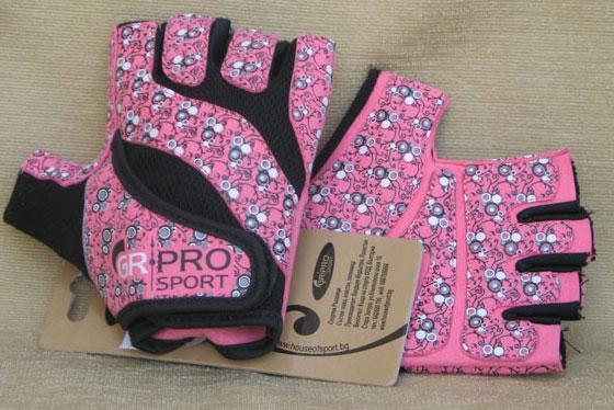 Фитнес-ръкавици, розови, HOS-HFG-510-C GR-PRO