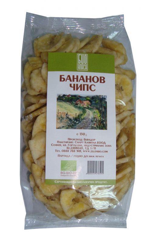 Бананов чипс 150г.