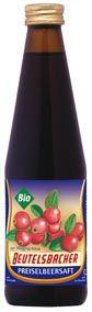 Био сок от червени боровинки 100%, 330 мл.