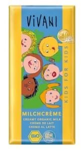 Био млечен шоколад за деца с млечен крем