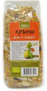Био Крънчи Ядки и Амарант, Dragon Superfoods, 300 g