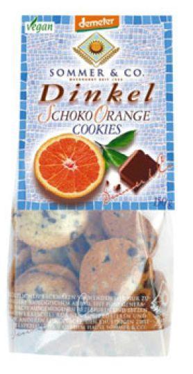 Био курабийки от спелта с шоколад и портокал