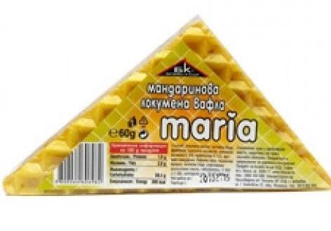 "Вафла локумена ""Мария"" мандарини,60 гр."
