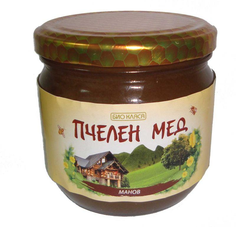 Био пчелен мед- Манов, 500 г