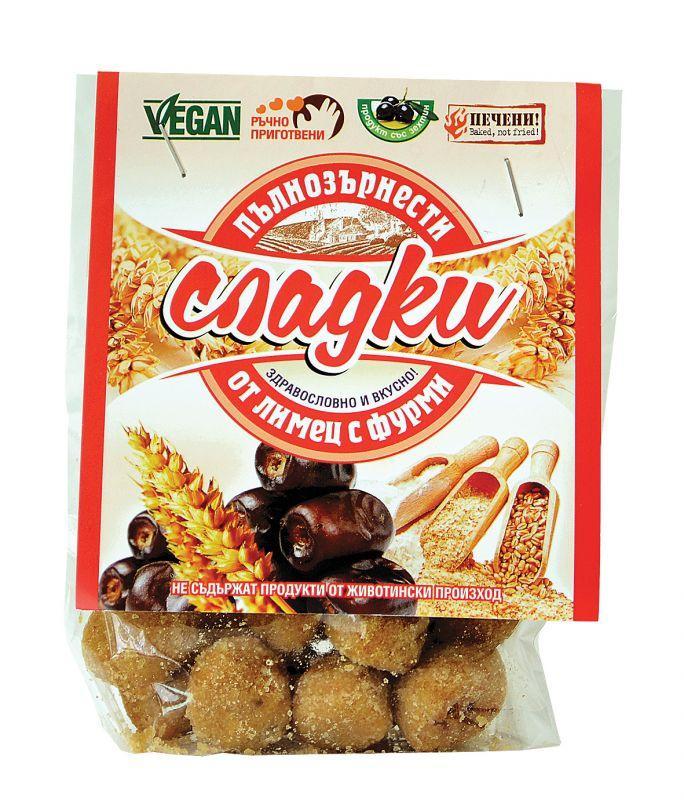 Пълнозърнести сладки от лимец с фурми 66 гр.