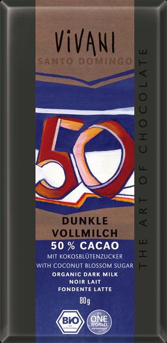 БИО Тъмен млечен шоколад с 50% какао