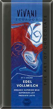 Био фин млечен шоколад, 37% какао