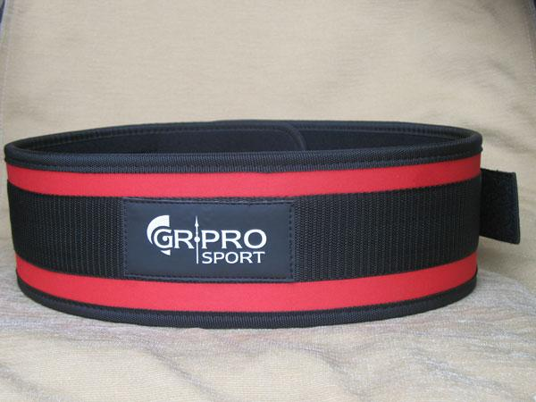Колан за фитнес, червен, HOS-HFG-205 GR-PRO