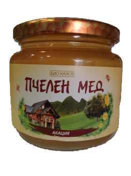 Био пчелен мед- Акация и глог, 500г