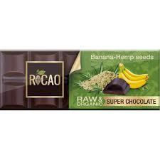 Био суров шоколад с конопено семе и банан