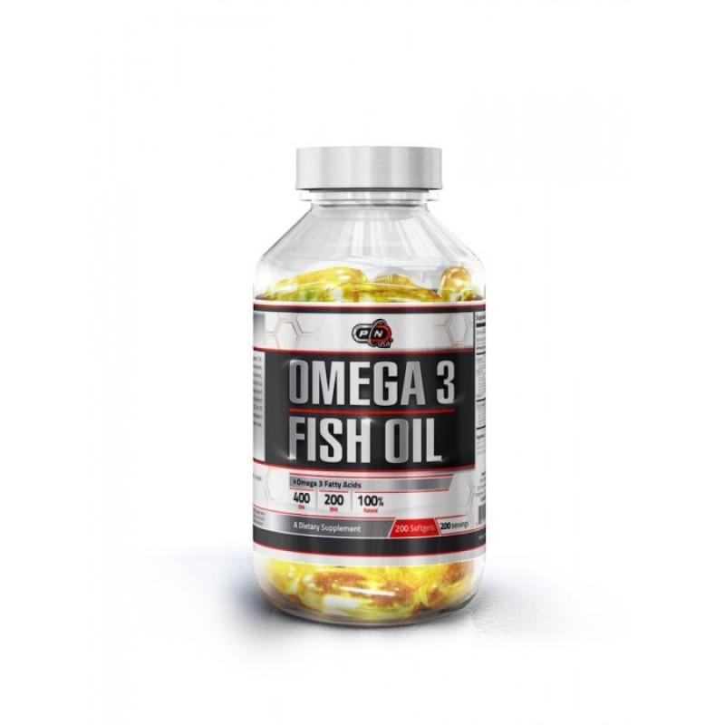 Omega 3 Fish Oil - 200 Дражета Pure Nutrition