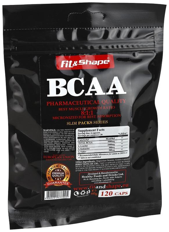 SlimPacks ® BCAA 8:1:1 120капсули FIT & SHAPE
