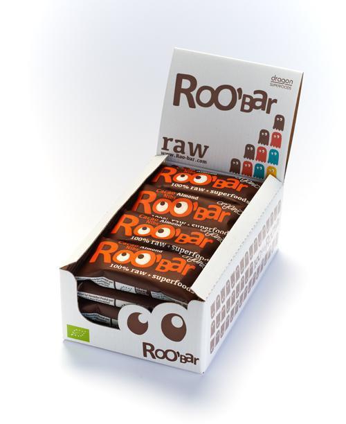 Кутия ROOBAR с какаови зърна и бадеми, 16 x 50г