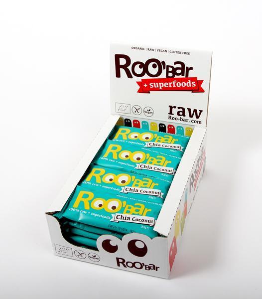 Кутия ROOBAR с чиа семена и кокос, 20 x 30г