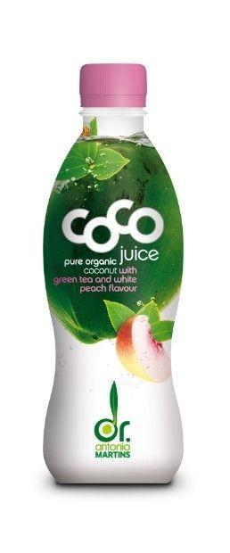Био кокосова вода със зелен чай и праскова, 330ml