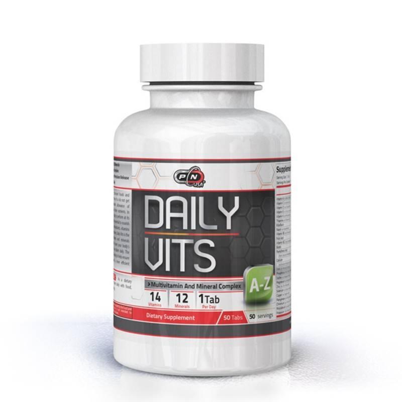 DAILY VITAMINS - 50 Таблетки PURE NUTRITION