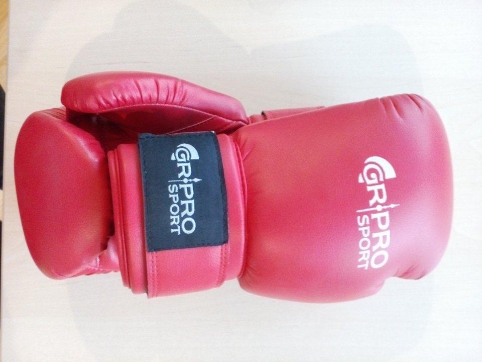 Боксови ръкавици, кожа,червени,   GR-PRO