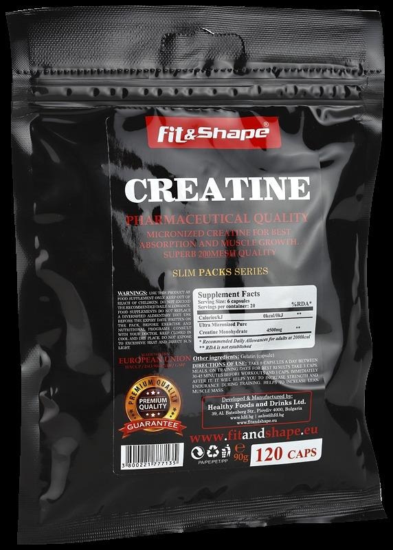 SlimPacks ® CREATINE 120капсули FIT & SHAPE