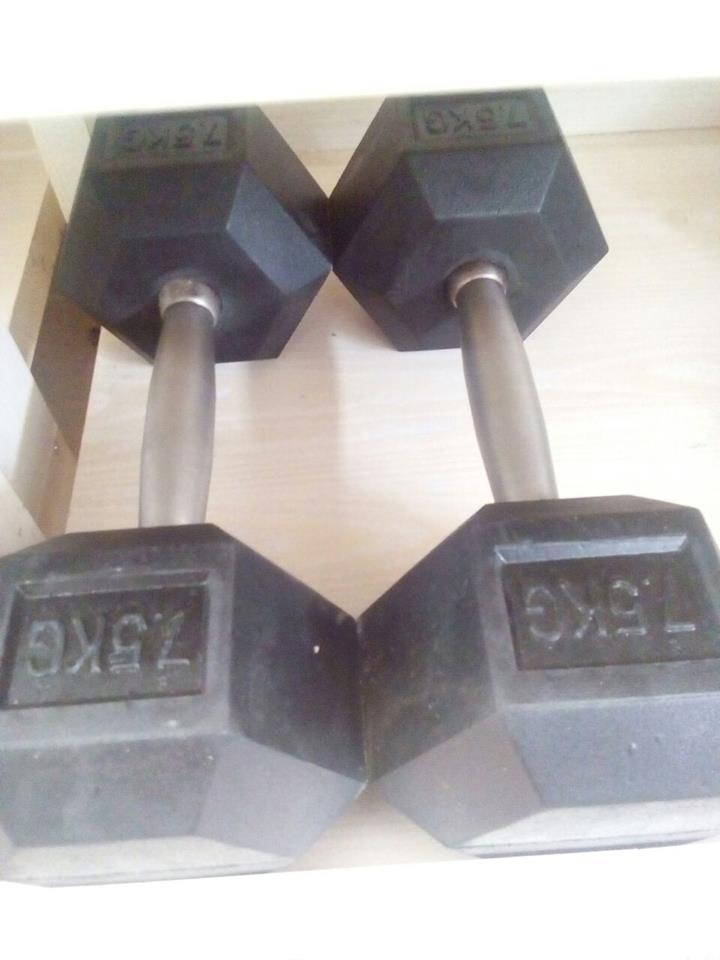 Дъмбел хексагонален 7.5 kg/ 1бр.
