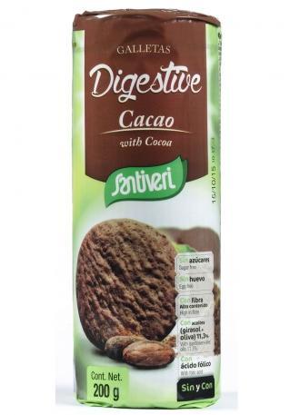 Пълнозърнести Какаови бисквити  Диджестив, без захар, без яйца ,200гр