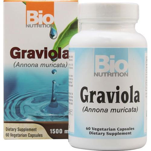 Bio Nutrition Graviola - 1500 mg - 60 Vegetarian Capsules