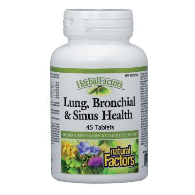 Lung, Bronchial & Sinus Health (Бял дроб, бронхи и синуси ), 650 mg x 45 таблетки