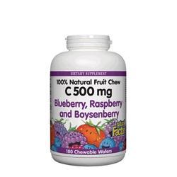 Витамин С 500 mg (горски плодове) х 90 дъвчащи таблетки