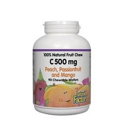 Витамин С 500 mg (тропически плодове) х 90 дъвчащи таблетки