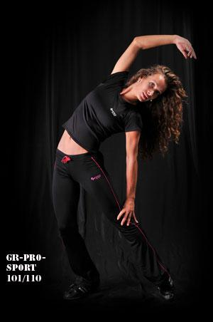 GR-PRO SPORT 101/110 дамски панталон черно с лилаво