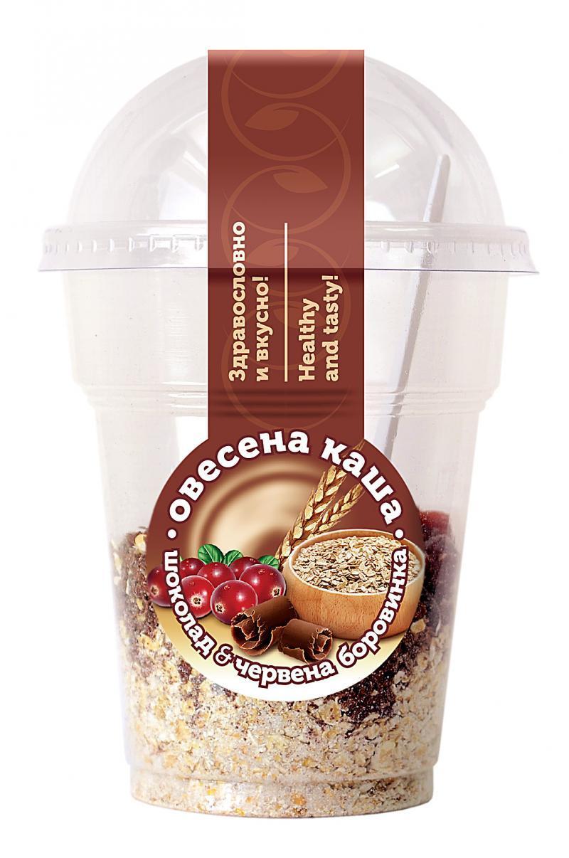 Овесена каша с шоколад и червена боровинка 100 гр.