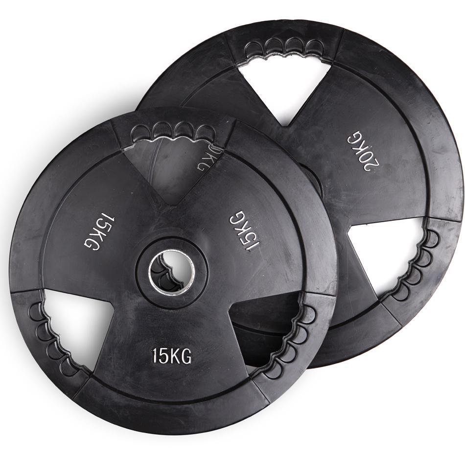HOS Дискове олимпийски гумирани 3D - 2 Х 20 кг