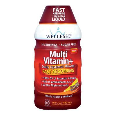 Течен Мултивитамин + WELLESSE® (цитрус) 480 ml