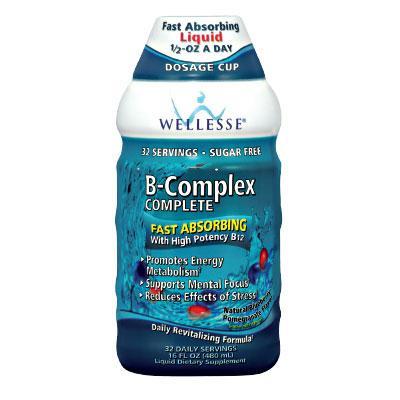 Течен Витамин B-Комплекс WELLESSE® (боровинка и нар) 480 ml