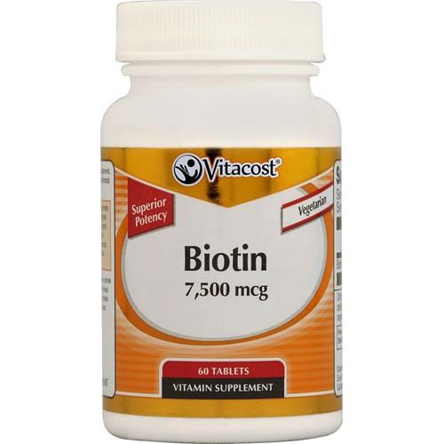 Biotin -- 7500 mcg - 60 Tablets
