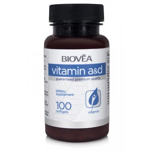 Biovea VITAMIN A & D 100 Softgels