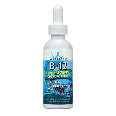Течен Витамин B12 капки WELLESSE® 60 ml