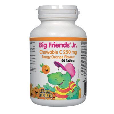 Витамин С BigFriends® за деца (портокал) 250 mg х 90 дъвчащи таблетки