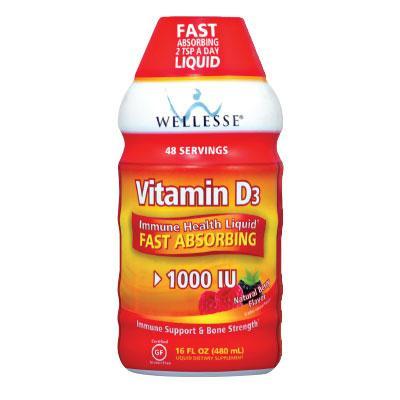Течен Витамин D3 WELLESSE® 480 ml