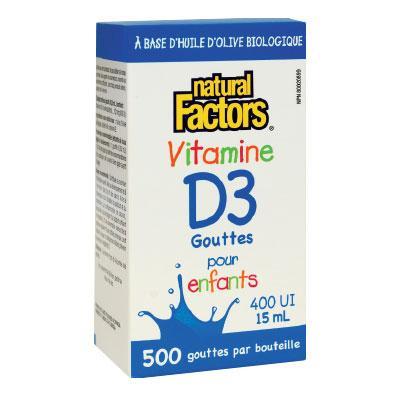 Витамин D3 400 IU за Деца /течен/ 15 ml