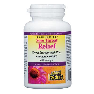 Sore Troat Relief (Възпалено Гърло) 55 mg х 60 таблетки за смучене с Цинк
