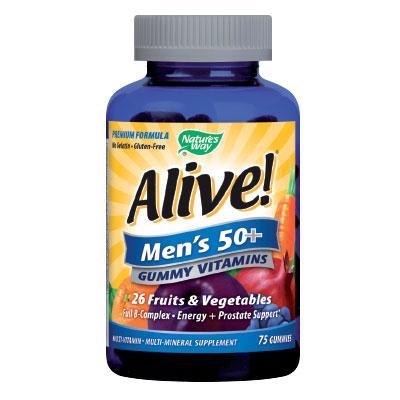 Alive! / Алайв мултивитамини за Мъже 50+ 94 mg х 75 желирани таблетки