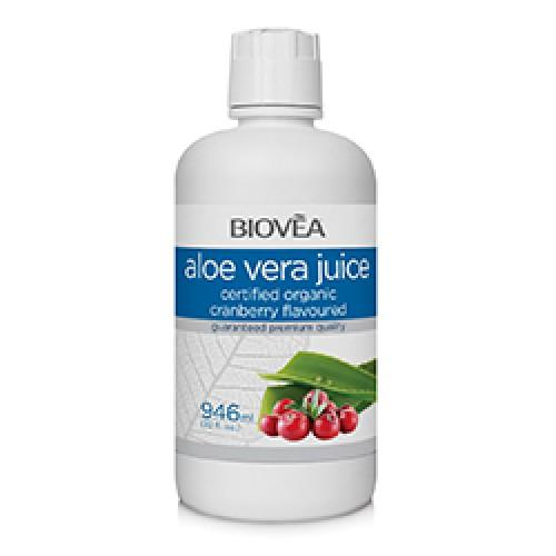 Biovea Aloe Vera Juice Cranberry Flavour 946ml