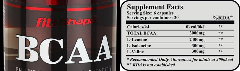 BCAA 8:1:1 / 120 caps Fit and Shape